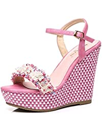 Sanita Damen Matrix Square Flex Sandal Riemchensandalen,. KaiGangHome Mode  Hang mit Frauen Sandalen High Heel wasserdichte Plattform Schuhe Wort mit  Perlen ... 47d432976b