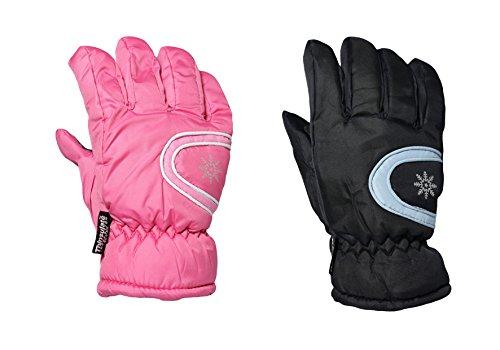 Traje de neopreno para mujer de invierno térmico en forma de luz acolchado con forro duradera e interior de al aire libre y guantes de esquí