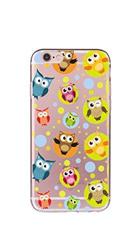 Case Cover Per iphone 6 6S 4.7 pollici Trasparente TPU Gel Silicone Bumper Protettivo Skin Custodia Ultra-sottile Flessibile morbido Protettiva Shell(corona imperiale) gufo