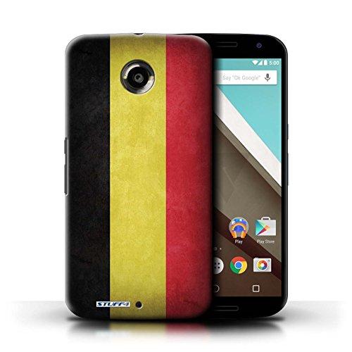 Kobalt® Imprimé Etui / Coque pour Motorola Nexus 6 / Pays de Galles/gallois conception / Série Drapeau Belgique