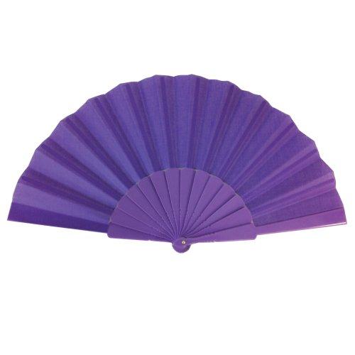 purple-plastic-fabric-hand-fan