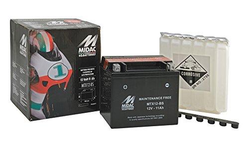 Batteria Sigillata S.Manutenzione Mtx12 Con Acido Pred Ricambi Moto Scooter