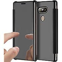 LG G5 Hülle,LG G5 Spiegel Ledertasche Handyhülle Brieftasche im BookStyle,SainCat Clear View Überzug Mirror Effect... preisvergleich bei billige-tabletten.eu