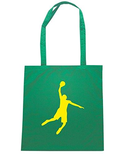 T-Shirtshock - Borsa Shopping OLDENG00826 basketball white (3) Verde