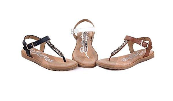 Jarpex-In shoes , Damen Zehentrenner, weiß - weiß - Größe: 35