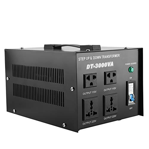 Spannungsregler, 3000VA Spannungsregler Wandler Transformator 220V auf 110V Step Up/Down (EU Stecker) -