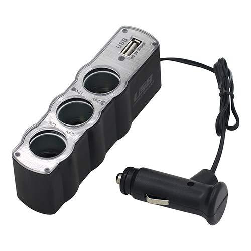 Jiqiaoda2 Car Charger Car Cigarette Lighter Multi Socket Splitter 3 Way USB Charger Adapter DC 12V Socket Splitter