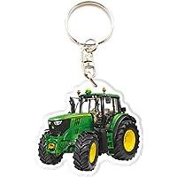 Porte clé Personnalisé Tracteur John Deere - Porte clef Personnalisable Photo Texte Prénom