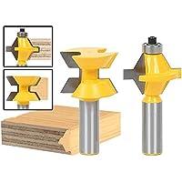 godbless Router puntas 120grados–Fresa para conexiones de Muelle Y Nut cortador de madera para graviermaschine trimmmasc (Sunshine (2unidades)