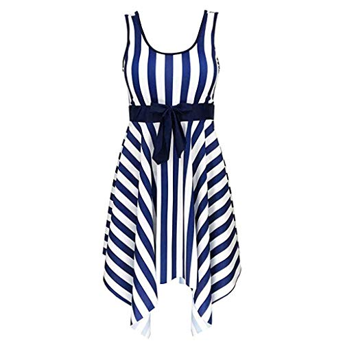 ESAILQ Damen Schwimmen Streifen Badeanzug Badebekleidung Push Up Beach Bikini Sets
