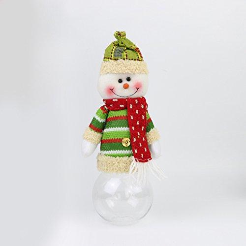 Damjic Weihnachten Fensterdekoration Weihnachtsmann Schneemann Candy Dosen Weihnachtsgeschenke 10 * 30 Cm (Scary Woman Cat)