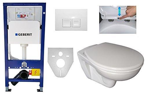 Preisvergleich Produktbild Geberit Duofix WC Vorwandelement UP 100 Wand WC Komplett Set WC-Sitz abnehmbar