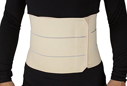 ObboMed MB-2310NS Ceinture de maintien , gaine élastique à 3 rangées, légère pour post-opération, soutien abdominal, support pour blessure, post grossesse, post chirurgie, hernie ombilicale , attelle enveloppement du ventre, affinement de la taille et du ventre – Taille S: 56 – 86.3 cm