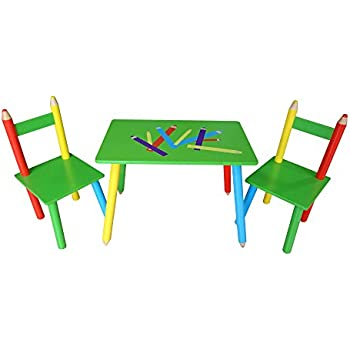 Rostrad ® Childrens Kids Wooden Table and Chair Set Crayon Pencil Design  sc 1 st  Amazon UK & Rostrad ® Childrens Kids Wooden Table and Chair Set Crayon Pencil ...
