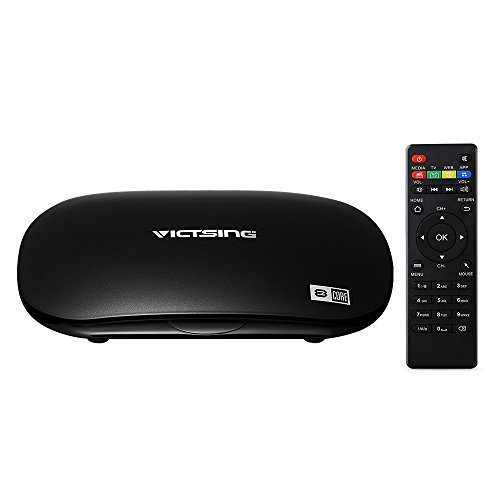 TV Box Octa-Core Android 5.1 de VicTsing, Streaming Media Player, 1,5 GHz CPU, 2G RAM + 16G Flash, Resolución 4Kx2K @60 fps, Bluetooth 4.0, HDMI 2.0, WiFi, Miracast / Airplay / DLNA y OTA, PreInstalado KODI/ YouTube/ Netflix/ Skype