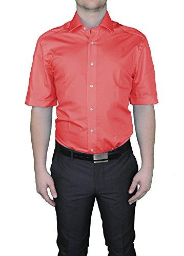 Redmond -  Camicia Casual  - Basic - Classico  - Maniche corte  - Uomo Rot(501)