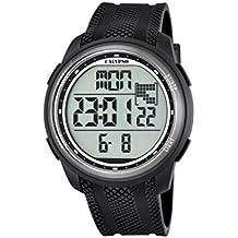 7503a99ad474 Reloj Digital Unisex con Pantalla Digital LCD con Esfera y Extensible de  plástico de Color Negro