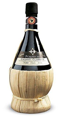 Bonomonte Chianti Classico Fiasco DOCG Vino Rosso 2015 - Confezione Scatola n. 6 fiaschetti da 0,75 ml ciascuno