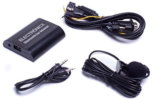 Bluetooth Freisprechanlage, Bluetooth Musik Streaming Adapter für Originalradios inkl. AUX und USB-Ladebuchse BTA-PIO