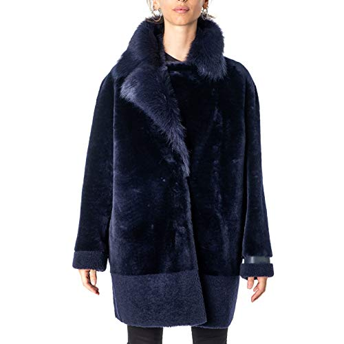 RIZAL Luxury Fashion Damen RZW19F266 Blau Mantel | Herbst Winter 19 4