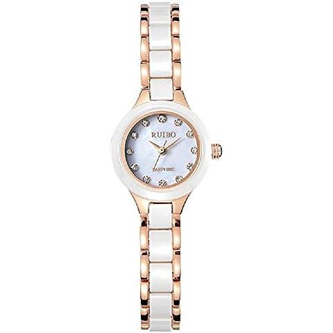 Moda guarda al quarzo orologio da polso impermeabile ragazze table femminile in ceramica , rose gold