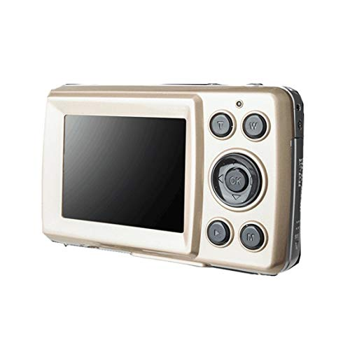 Tragbares Mini-2,4-Zoll-TFT-LCD-Display Hochauflösende Aufnahmekamera Taschenkamera Automatisches Löschen der Aufnahme (Farbe: Gold) -