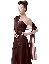 EnjoyBridal®châle/écharpe/foulard élégante en mousseline de soie pour robe de Cérémonies Fêtes Mariage