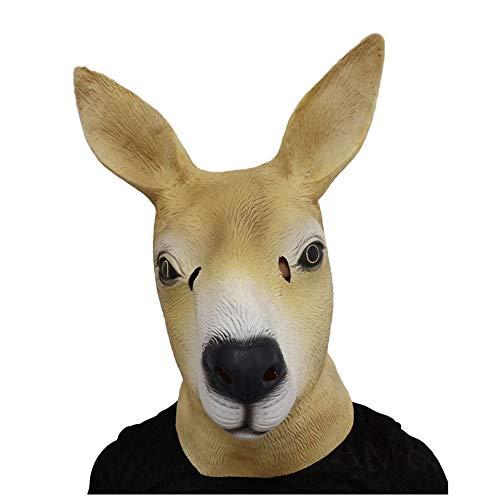 YaPin Neuheit Australische Känguru Maske Tier Kopfbedeckungen Halloween Weihnachten Latex Kopfbedeckung Maskerade Zeigen Requisiten