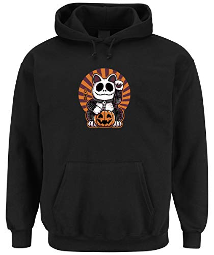 Certified Freak Halloween Cat Hooded Sweater Black