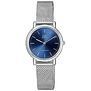 Citizen Q&Q QA21J202Y – Reloj de Pulsera para Mujer, Azul/Metálico