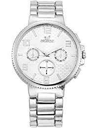 Orlando® Branded Chronograph Look With White Dial Chrome Plated Metal Belt Watches For Men - W1025SWXZXZ