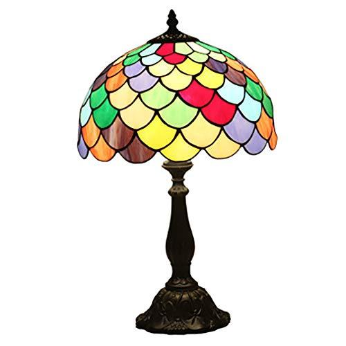Tiffany-Stil Tischlampe Glasmalerei Blumenmuster Art Tabellen-Lampen Breite 12 Zoll für Couchtisch Beleuchtung für Wohnzimmer Antique Schreibtisch neben Schlafzimmer