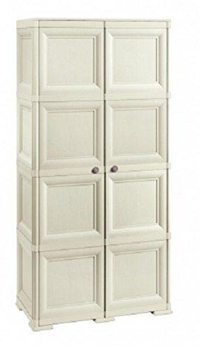 Tontarelli 8085555210 Omnimodus - Armario con Dos Puertas (1 Puerta con 4 Compartimentos y la Otra con Espacio para Colgar Trapos o Servir de escobero)