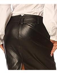 Leatherotics Black Leather Skirt Tight Fit Nappa Skins SK99