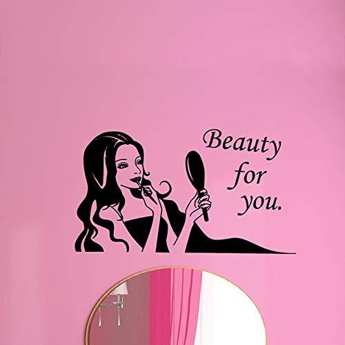 46x81cm friseursalon hairstylist nagelkosmetik shop aufkleber dekoration friseursalon fensterglas stick kann die wand entfernen