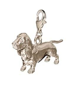 Basset Hound Dog Charm