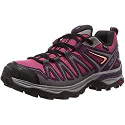Salomon X Ultra 3 Prime GTX W, Zapatillas de Senderismo para Mujer, Violeta (Malaga/Potent Purple/Desert Flower), 39 1/3 EU