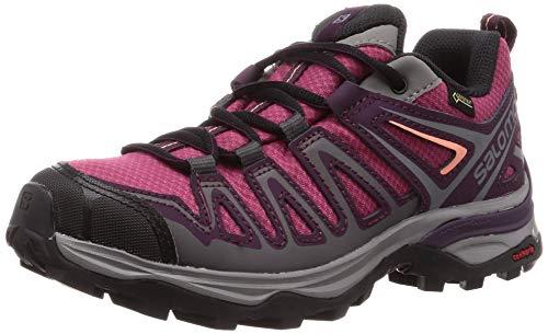 Salomon X Ultra 3 Prime GTX W, Scarpe da Trail Running Donna, Viola (Malaga/Potent Purple/Desert Flower), 38 2/3 EU