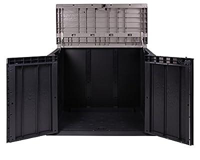 Ondis24 Mülltonnenbox anthrazit Gartenbox Storer Gerätebox abschließbar für 2 Mülltonnen von Ondis24 - Du und dein Garten