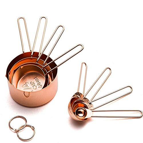 Freyamall - Juego 8 tazas cucharas medidoras acero