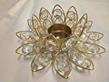 FireFlies Crystal Lotus Tabletop T-Light Candle Holder, Home Decor, Gift Accessories Living Room