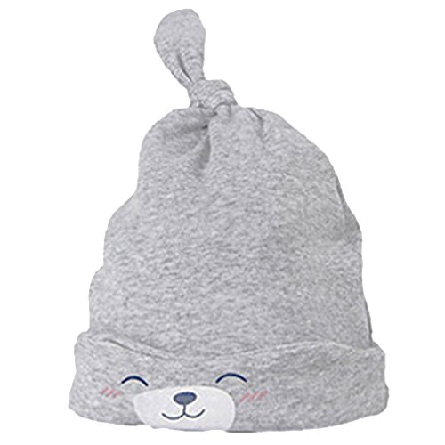 HENGSONG Baby Cute Hat Newborn Sleeping Knit Beanie Hat (Grey)
