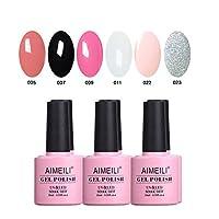 AIMEILI Gel Nail Polish Set Soak Off UV LED Gel Polish Black White Multicolour/Mix Colour/Combo Colour Of 6pcs X 10ml - Gift Kit 1