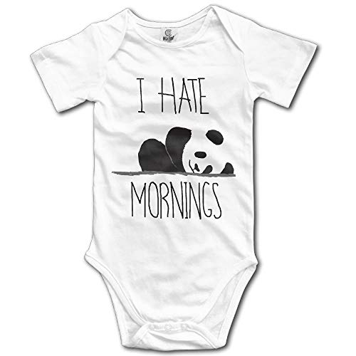 Pillowcase shop Cutee Hate Mornings Panda Sketch Babysuit Infant Jumpsuit Lovely Baby Girls Boys Romper Bodysuits 18 M Snap Cookie Cutters