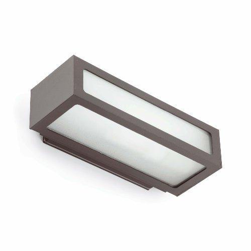 Proiettore Barcelona 70887natron applica 100W Alluminio iniettato e diffusore in vetro trasparente/Grigio