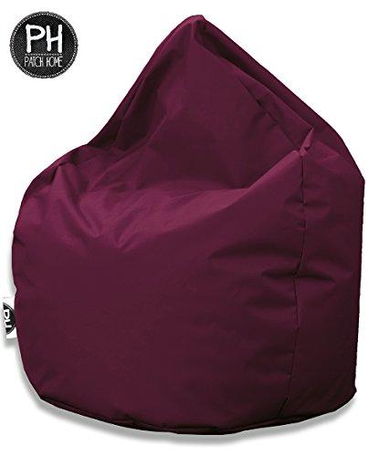 Patchhome Sitzsack Tropfenform Weinrot für In & Outdoor XXL 420 Liter - mit Styropor Füllung in 25 Versch. Farben und 3 Größen