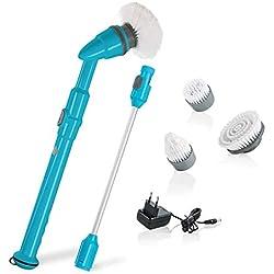 Genius Turbo Scrub Pro | eléctrica universal de 6piezas Cepillo de limpieza, Electrónico Con 430UPM | Cocina, Baño y cerdas de limpieza presupuesto | 3000| TV de nuevo