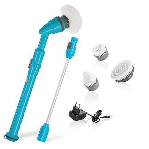 Genius Turbo Scrub PRO | Elektrische Universal-Reinigungsbürste | 6 Teile | Elektronisch mit 430 UpM | Küche, Bad & Haushalt | 3000 Reinigungs-Borsten | TV-NEU