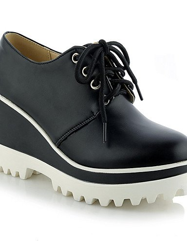 ZQ hug Scarpe Donna - Scarpe col tacco - Tempo libero / Formale / Casual - Zeppe / Plateau / Punta arrotondata - Zeppa - Finta pelle -Nero / , red-us10.5 / eu42 / uk8.5 / cn43 , red-us10.5 / eu42 / uk red-us6 / eu36 / uk4 / cn36