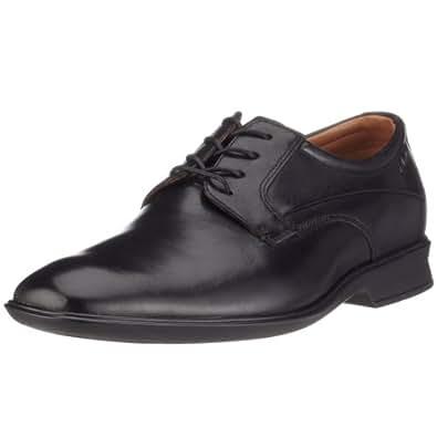 Clarks Goya Row, Herren Derby Schnürhalbschuhe, Schwarz (Black Leather), 47 EU (12 Herren UK)